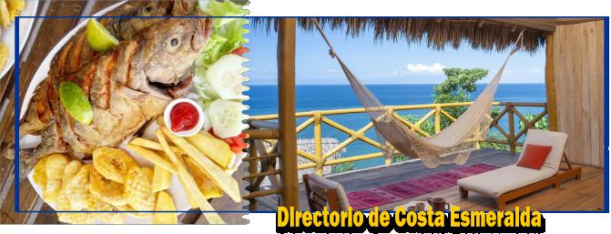 Guia en Costa Esmeralda, Directorio de restaurantes, Hospedaje , Buscador de servicios en Playa